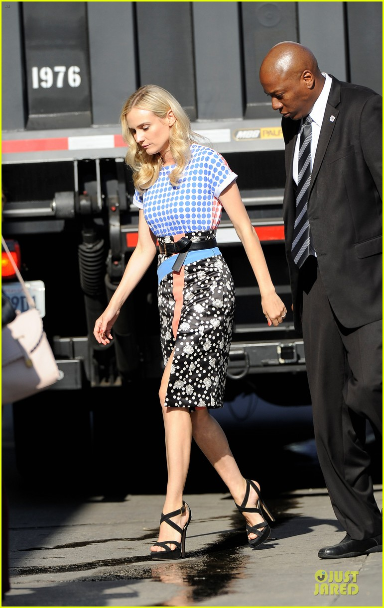diane kruger the bridge promotion on jimmy kimmel live 07