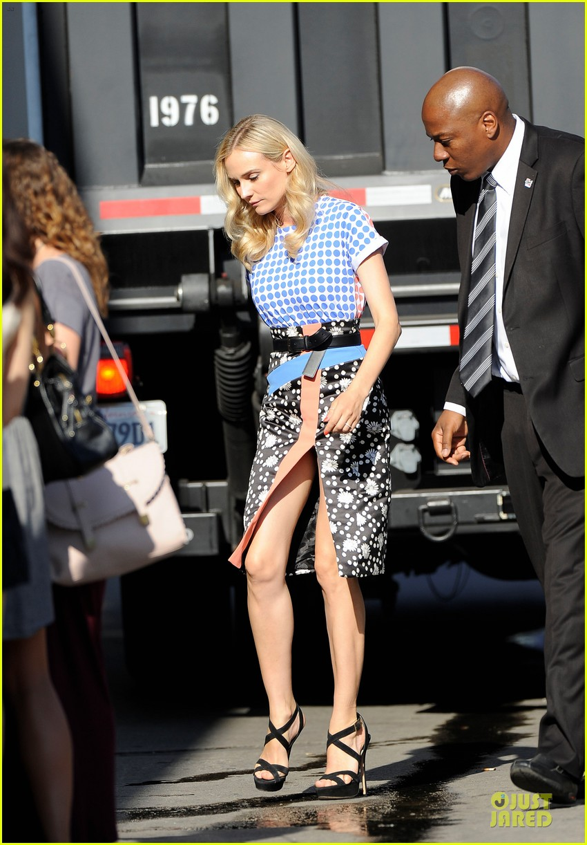 diane kruger the bridge promotion on jimmy kimmel live 082906824