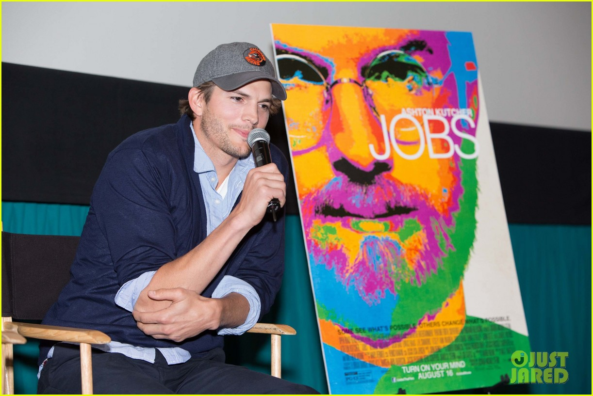 ashton kutcher jobs qa with director joshua michael stern 102917284