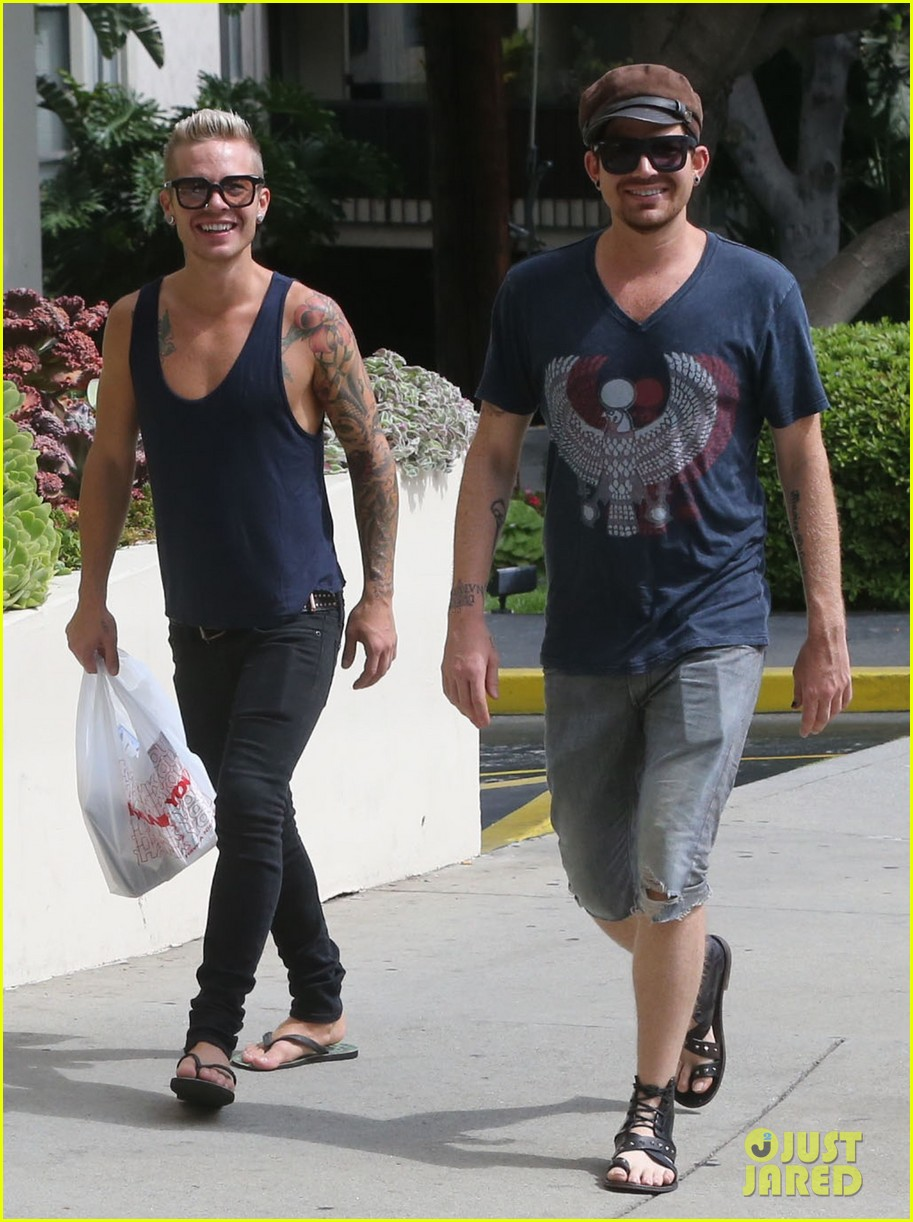 adam lambert steps out with ex sauli koskinen after cory monteith condolence 16