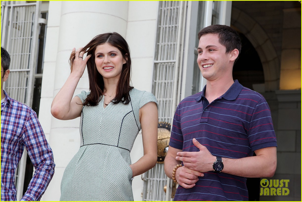 logan lerman alexandra daddario percy jackson press day 212917582
