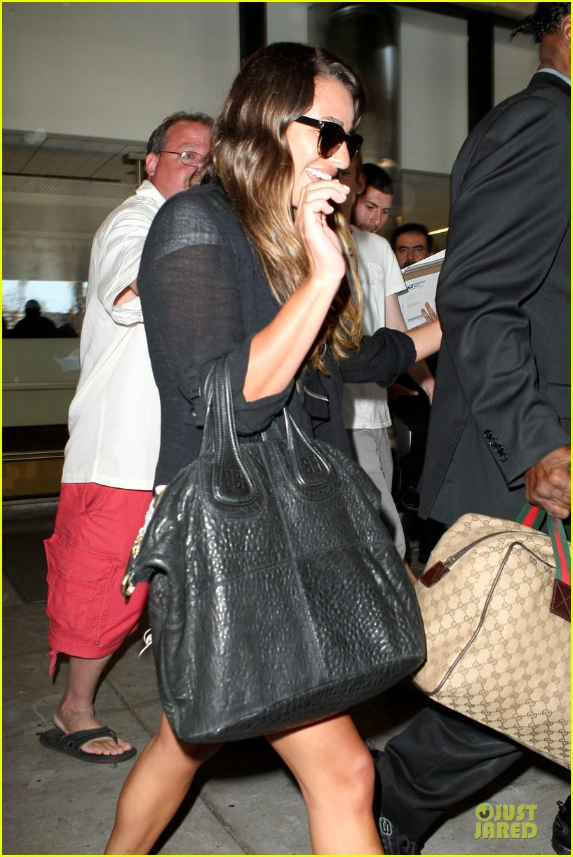 lea michele lax arrival after bikini clad vacation 102906199