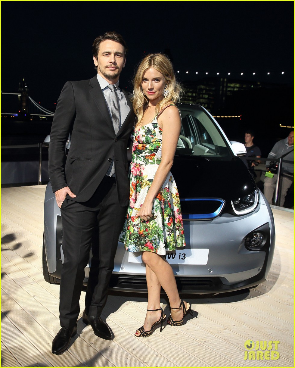 sienna miller james franco bmwi3 global reveal party 01