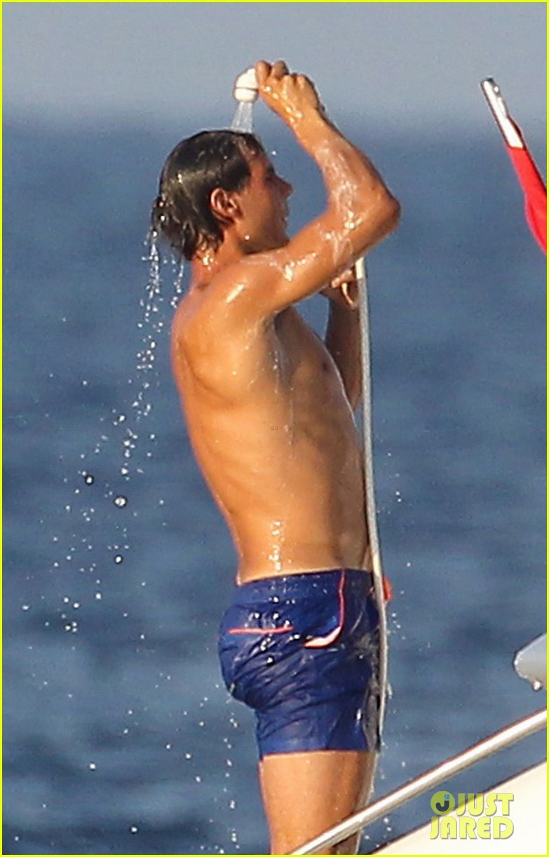 rafael nadal shirtless yacht ride with pals 042916620