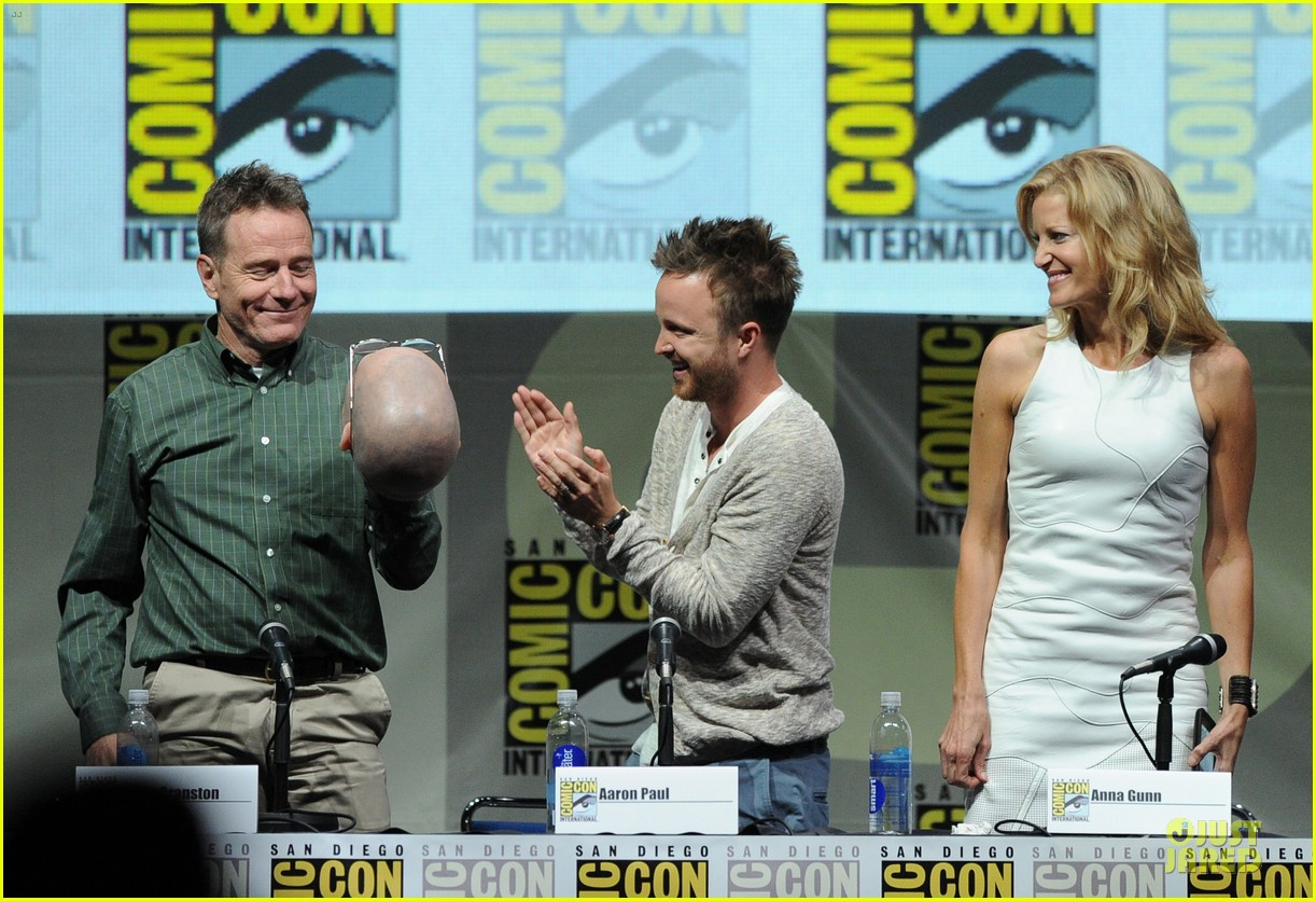 aaron paul bryan cranston breaking bad panel at comic con 192914283