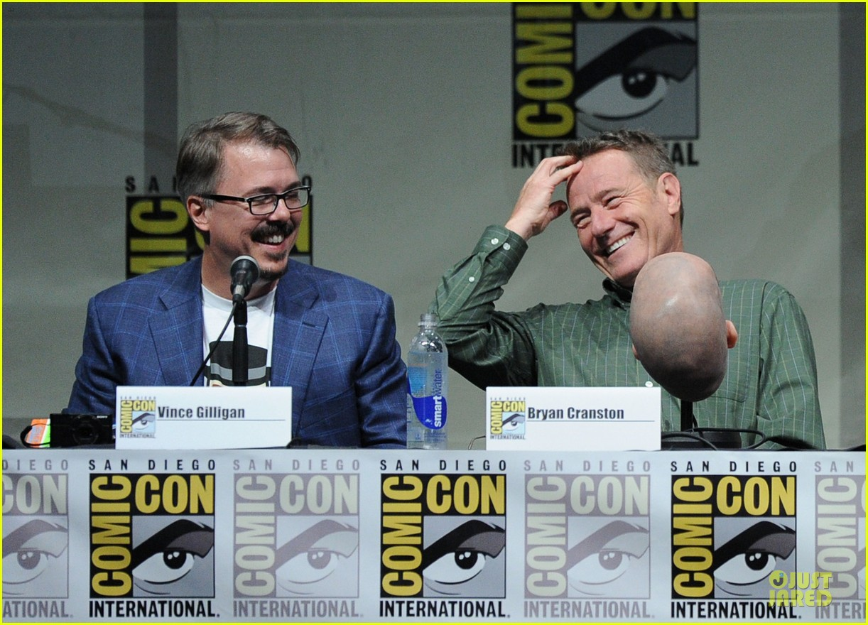 aaron paul bryan cranston breaking bad panel at comic con 24