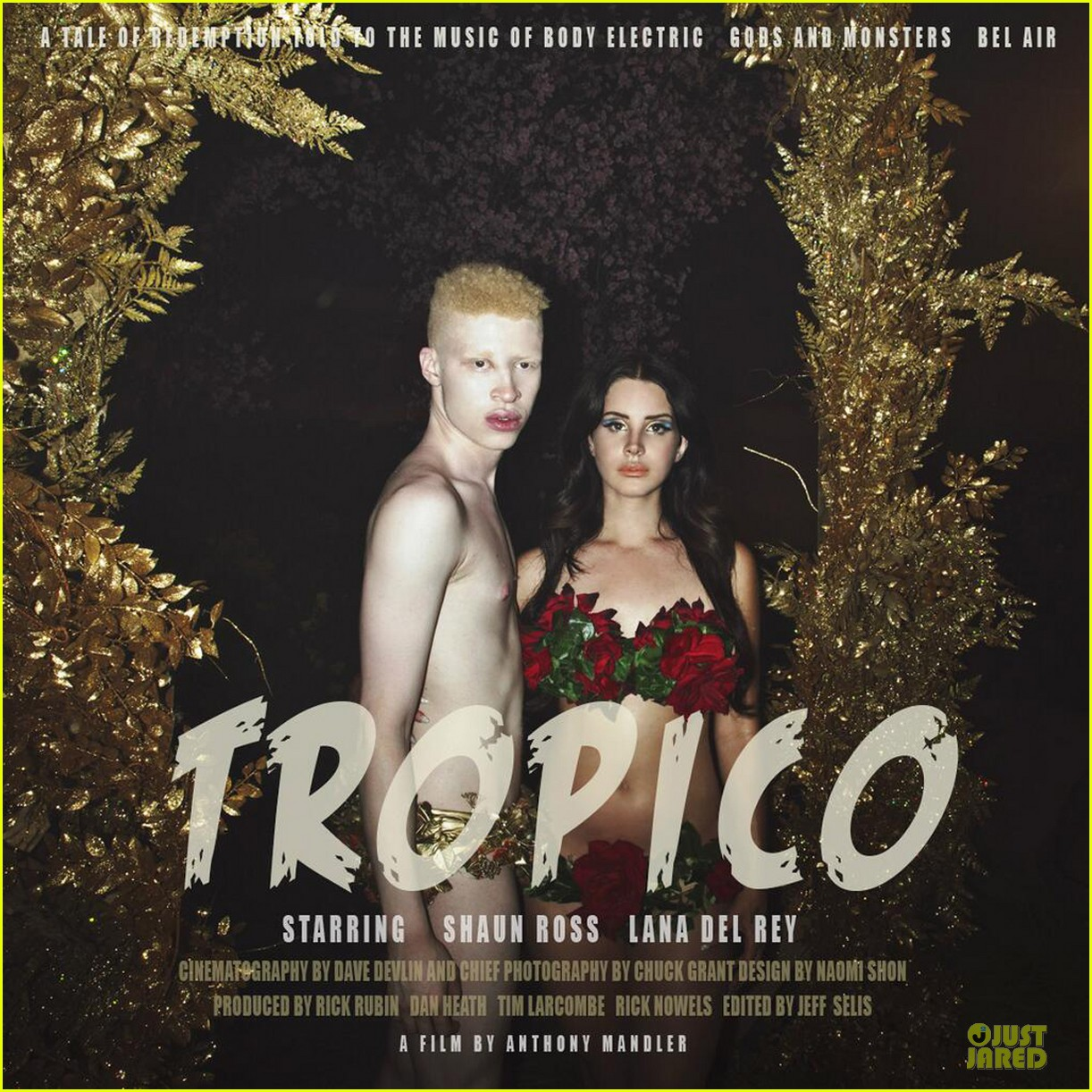 lana del rey tropico artwork with shirtless shaun ross 01