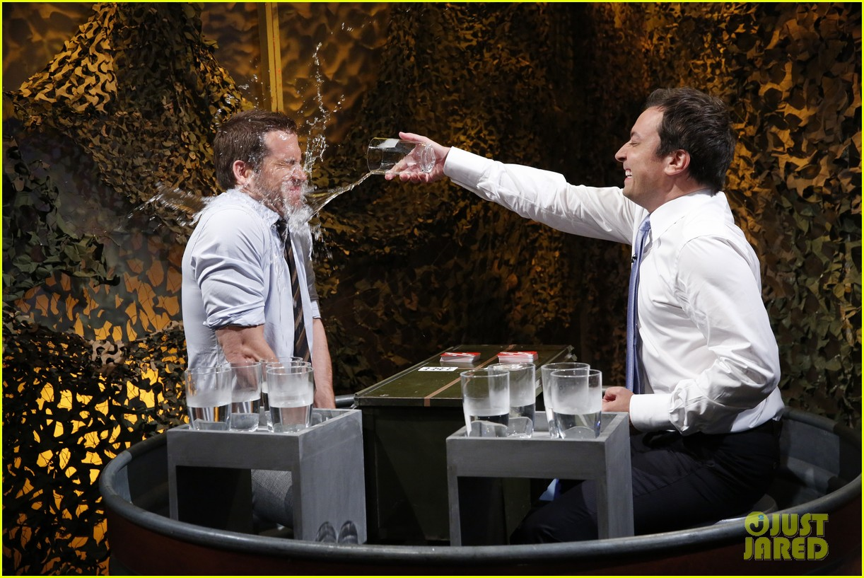 ryan reynolds gets soaking wet in jimmy fallon water war 022911996