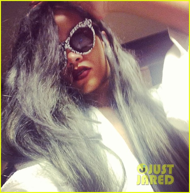 Full Sized Photo Of Rihanna New Grey Hair Color 05  Photo 2911273  Just Jared
