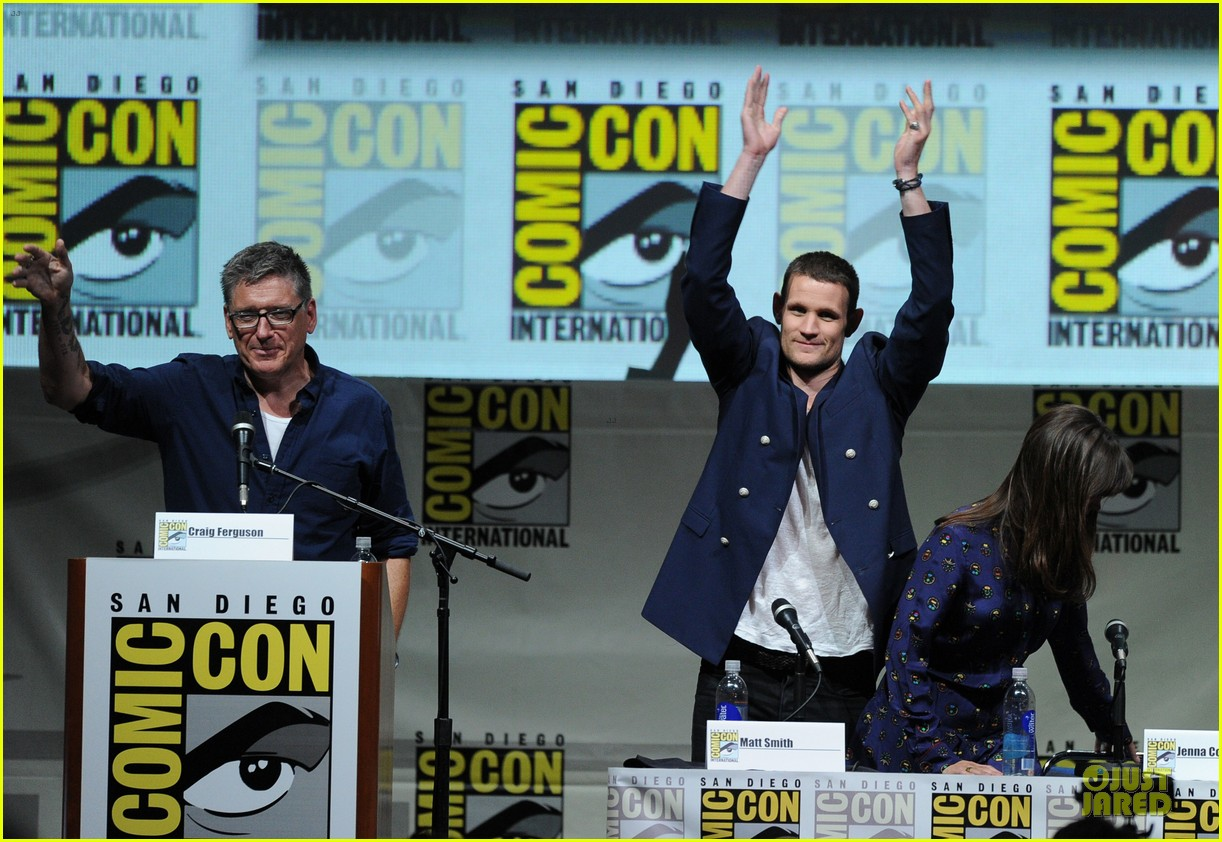 matt smith doctor who panel at comic con 102914138