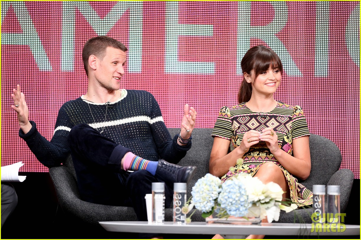 matt smith jenna louise coleman dr who tca panel 14