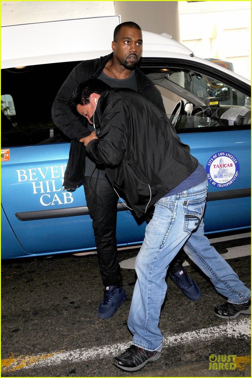 kanye west felony suspect after lax photographer scuffle 01