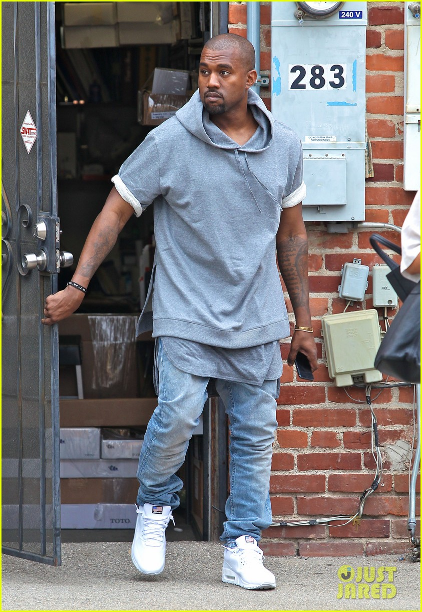 kanye west shops for furniture reportedly naps with north 11