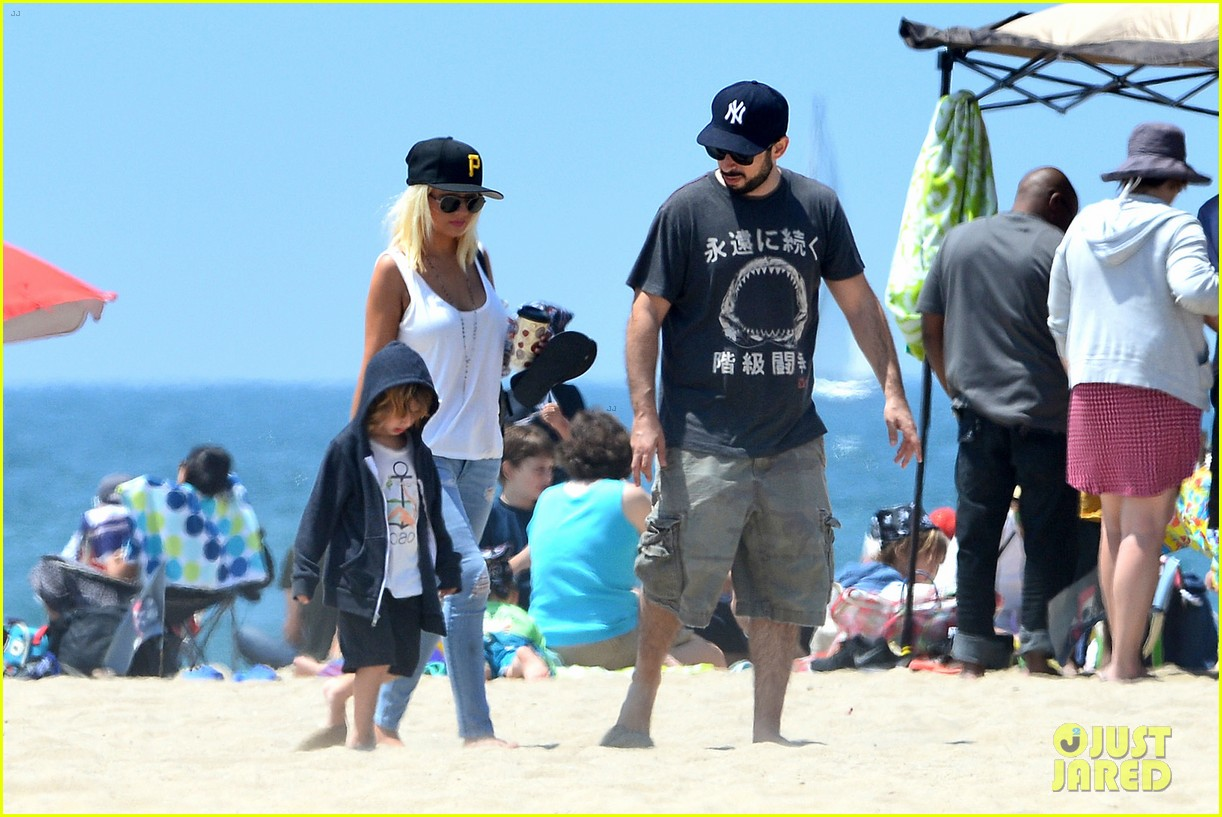 christina aguilera hits the beach with jordan bratman max 232928726