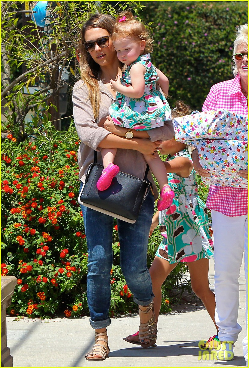 jessica alba honor haven wear matching outfits 082923176