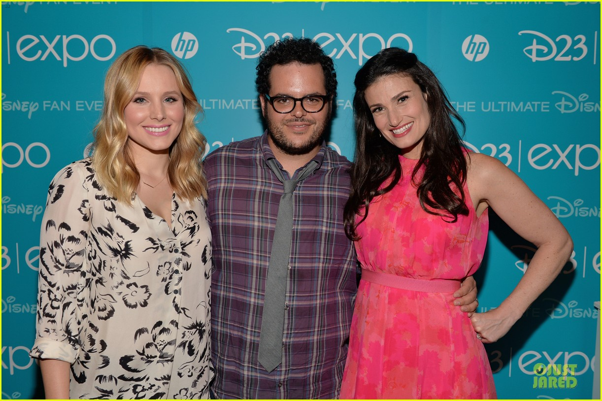 kristen bell idina menzel frozen at disney d23 expo 162926930