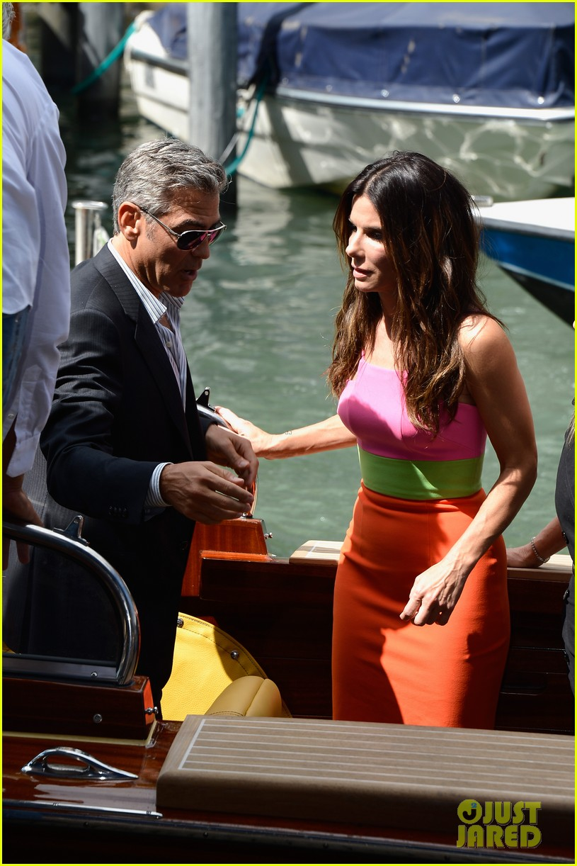 sandra bullock george clooney gravity venice photo call 132939318