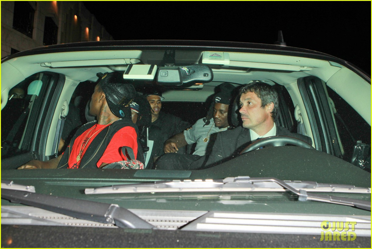 chris brown night out following love more video shoot 032923375