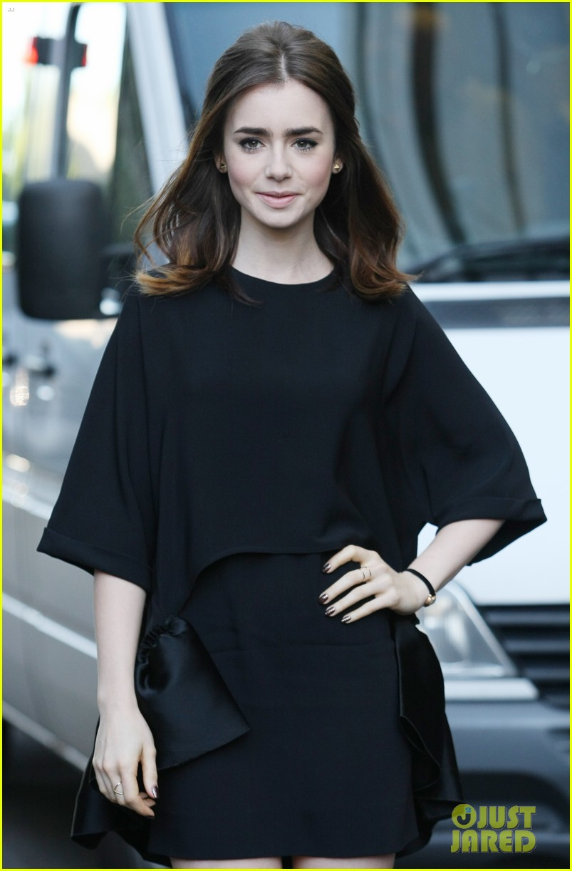 lily collins jamie campbell bower itv studios visit 112933203