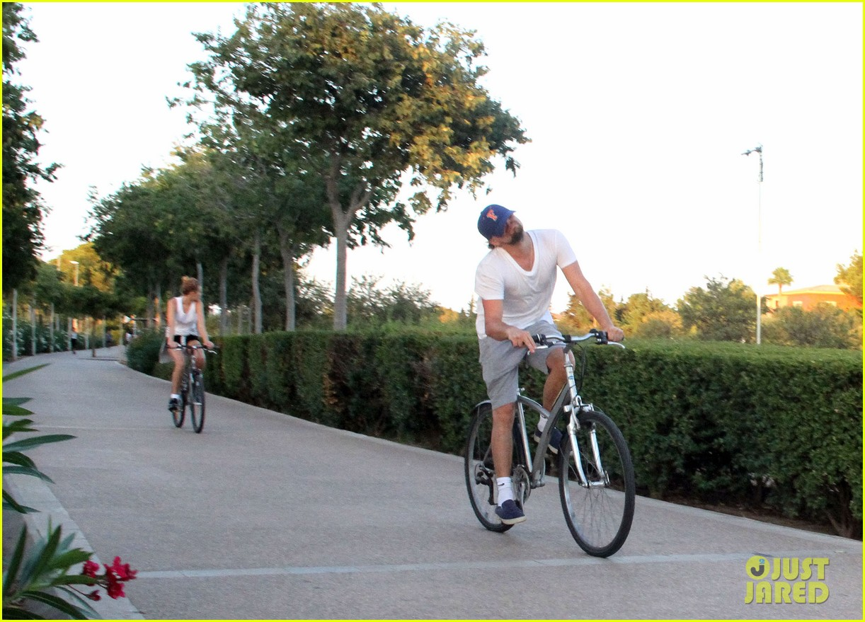 leonardo dicaprio toni garrn ride bikes together in spain 182930857