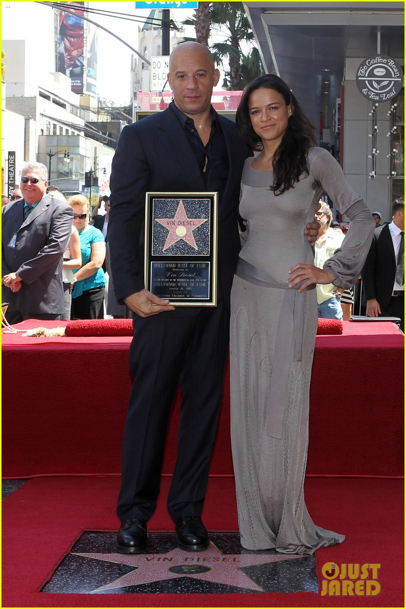 vin diesel hollywood walk of fame with his leading ladies 012938387