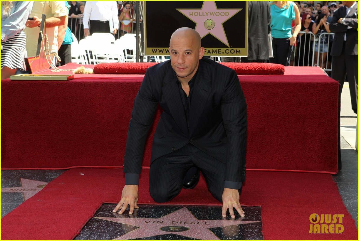 vin diesel hollywood walk of fame with his leading ladies 022938388