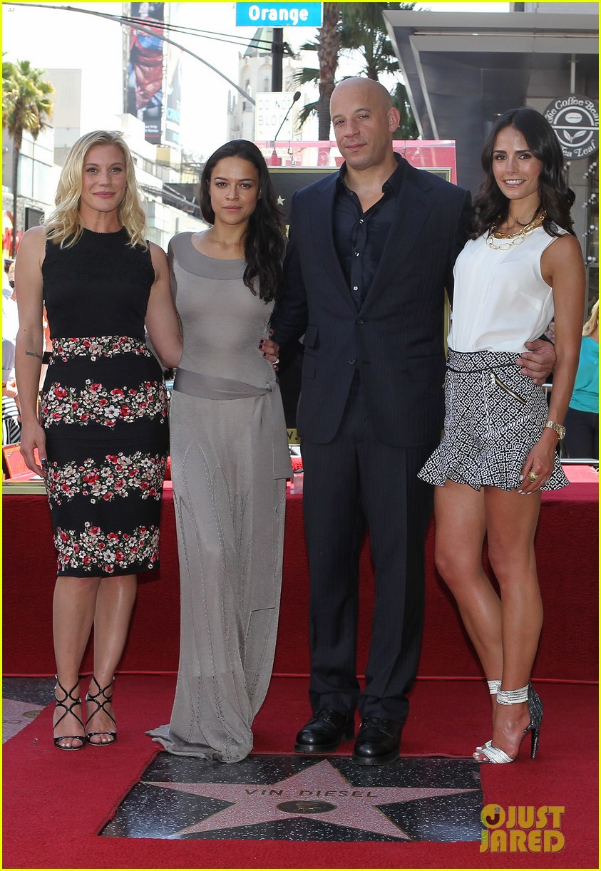 vin diesel hollywood walk of fame with his leading ladies 03
