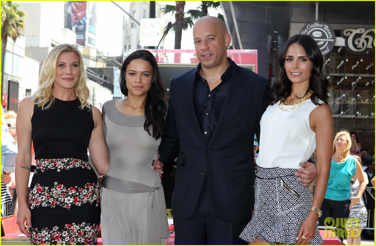 vin diesel hollywood walk of fame with his leading ladies 04