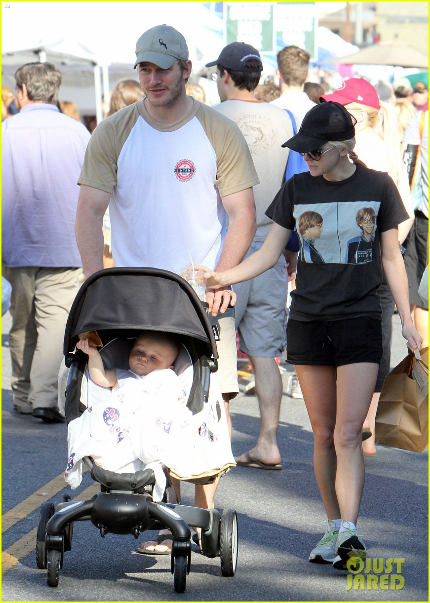 anna faris chris pratt celebrate son jack first birthday 11