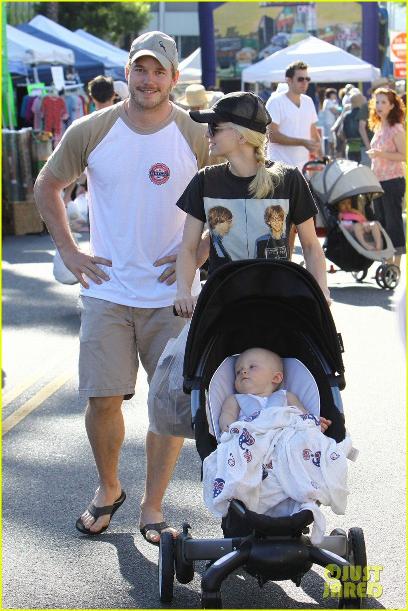 anna faris chris pratt celebrate son jack first birthday 18