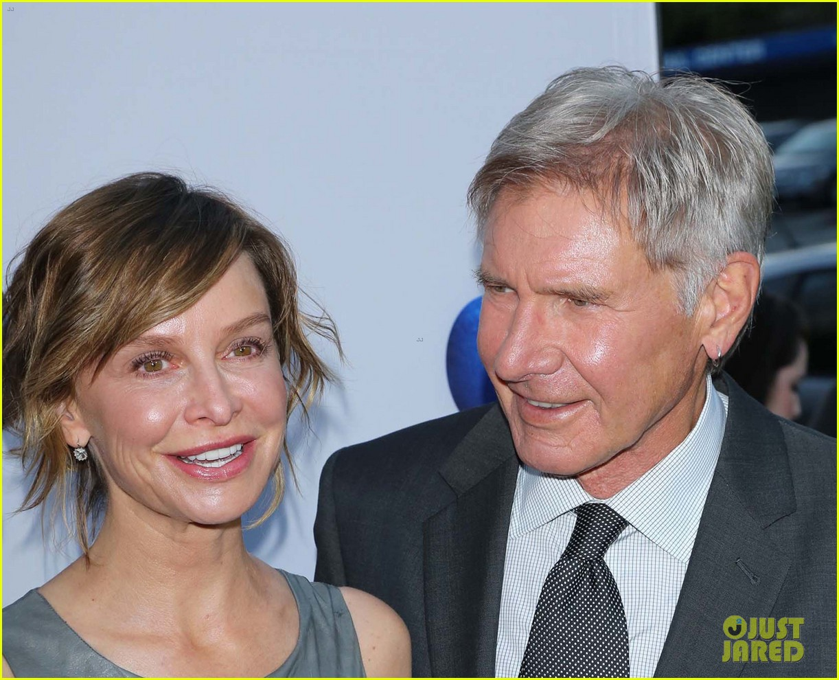 harrison ford paranoia premiere with calista flockhart 102926430