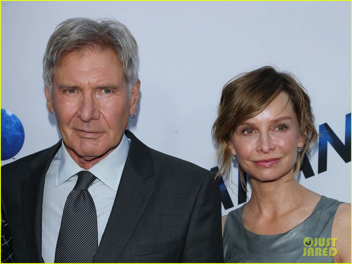 harrison ford paranoia premiere with calista flockhart 172926437