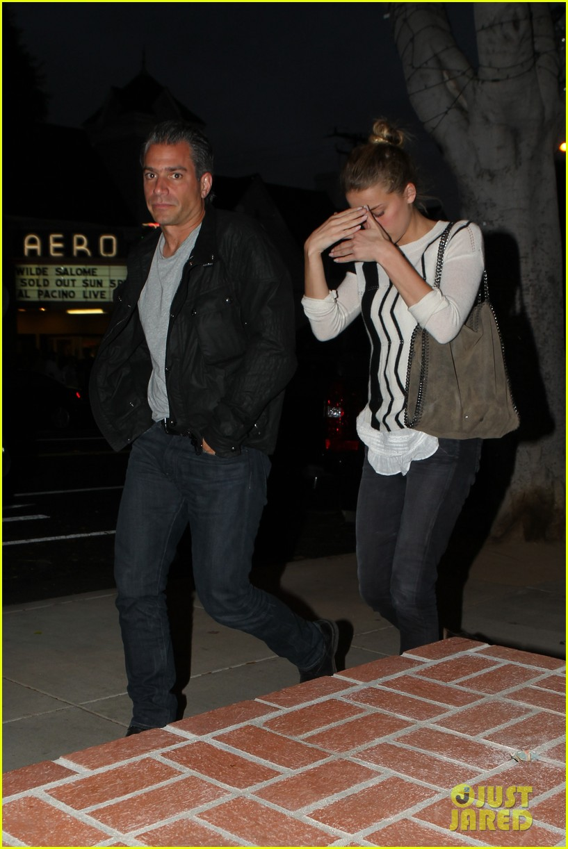 amber heard grabs dinner with talent agent christian carino 21