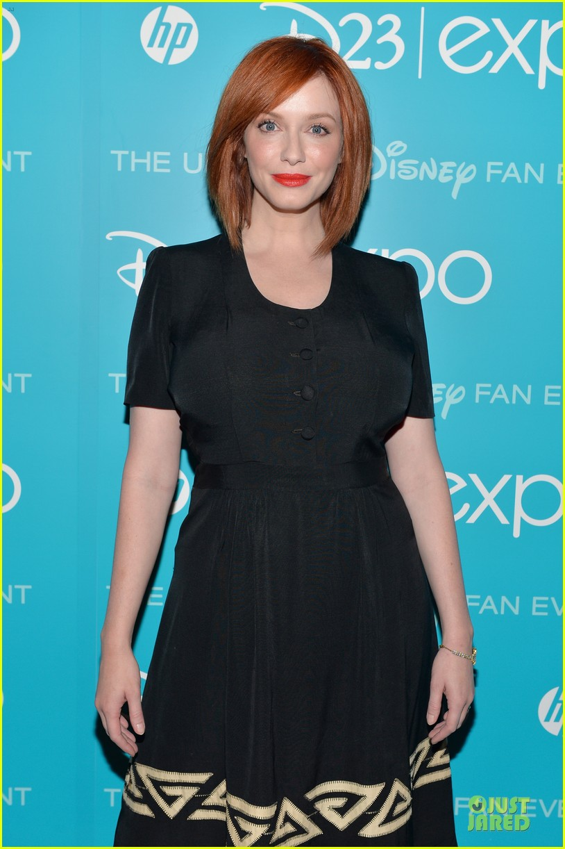 tom hiddletston christina hendricks the pirate fairy at disney d23 expo 24