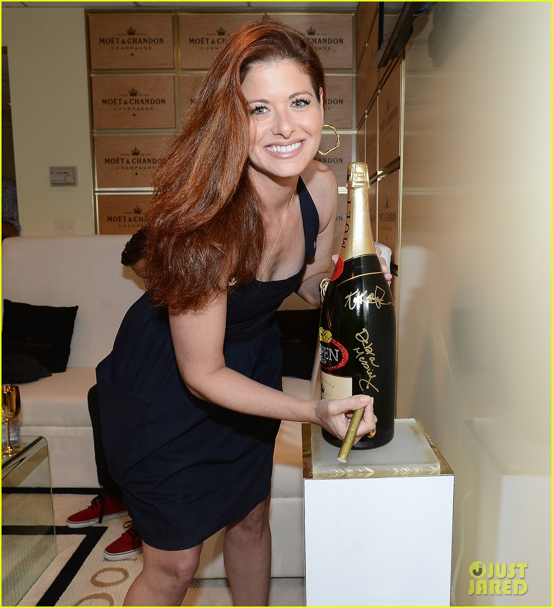 megan hilty debra messing smash reunion at us open 012941031
