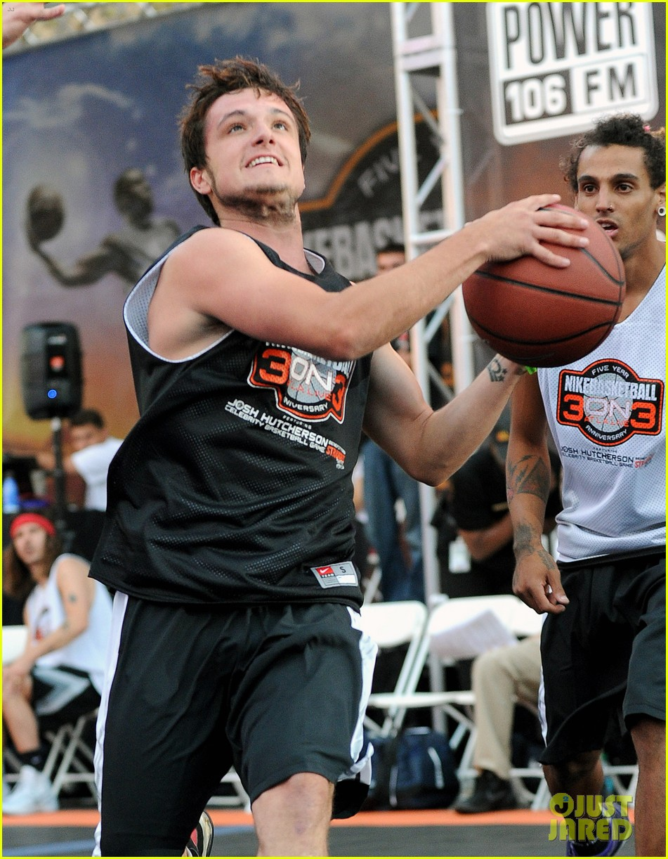 josh hutcherson james lafferty sbnn basketball game 04