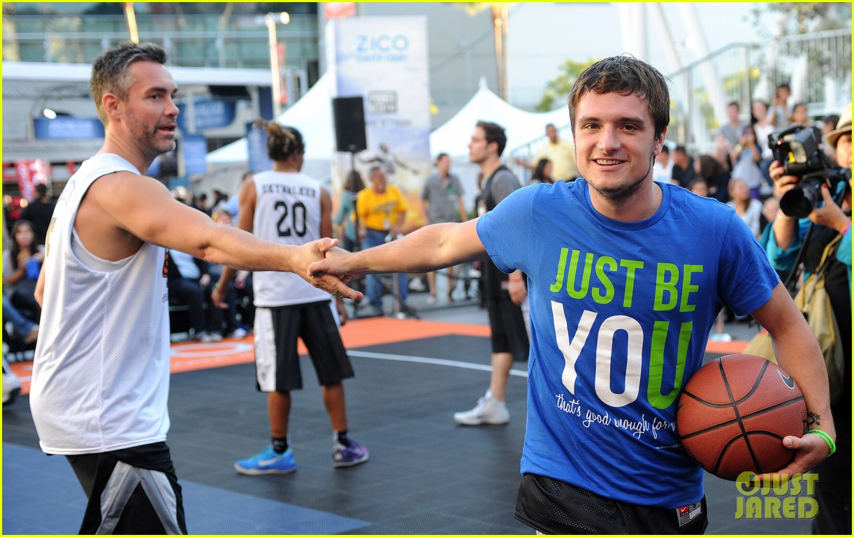 josh hutcherson james lafferty sbnn basketball game 182927182