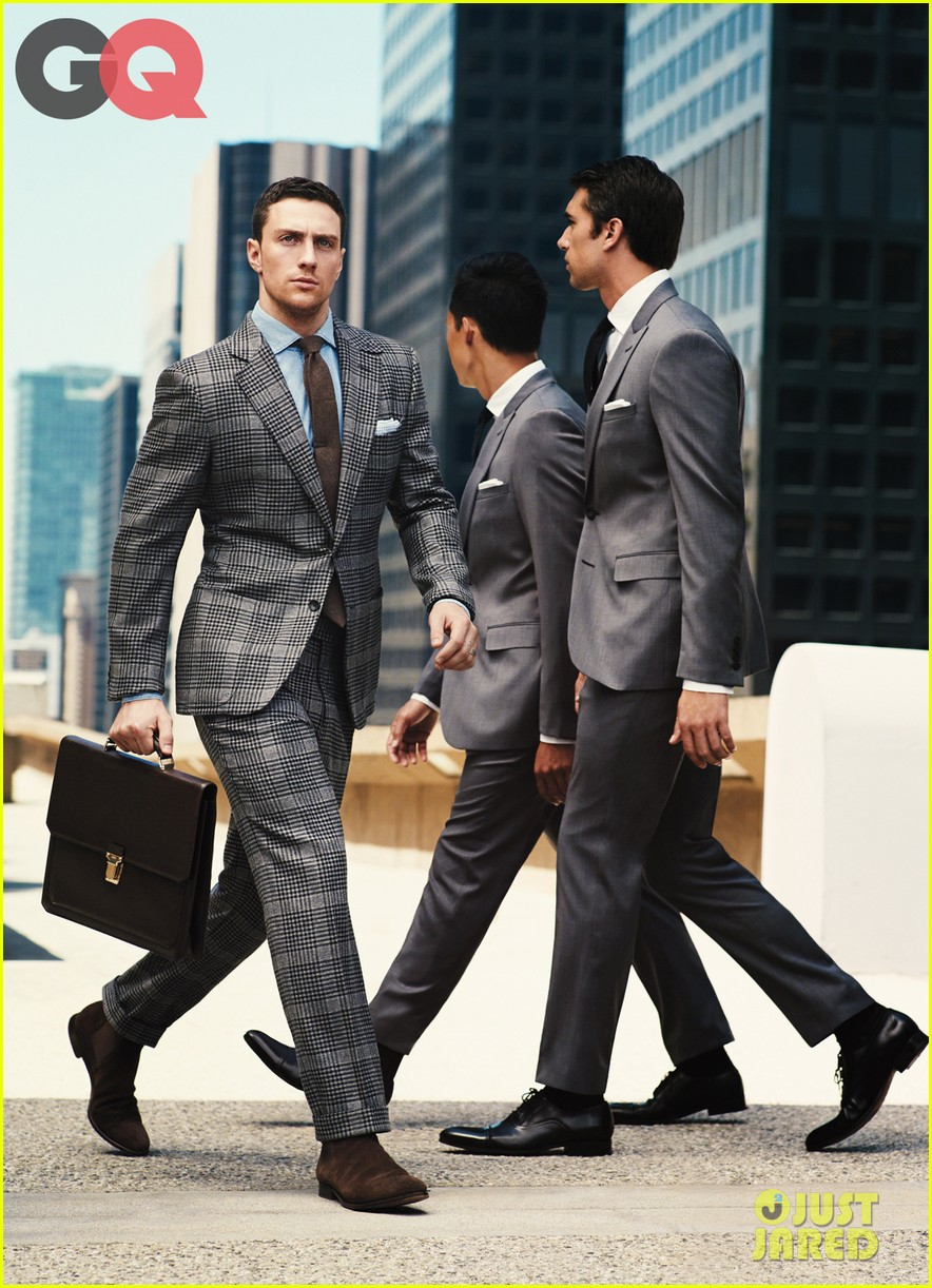 aaron taylor johnson models suits for gq 02