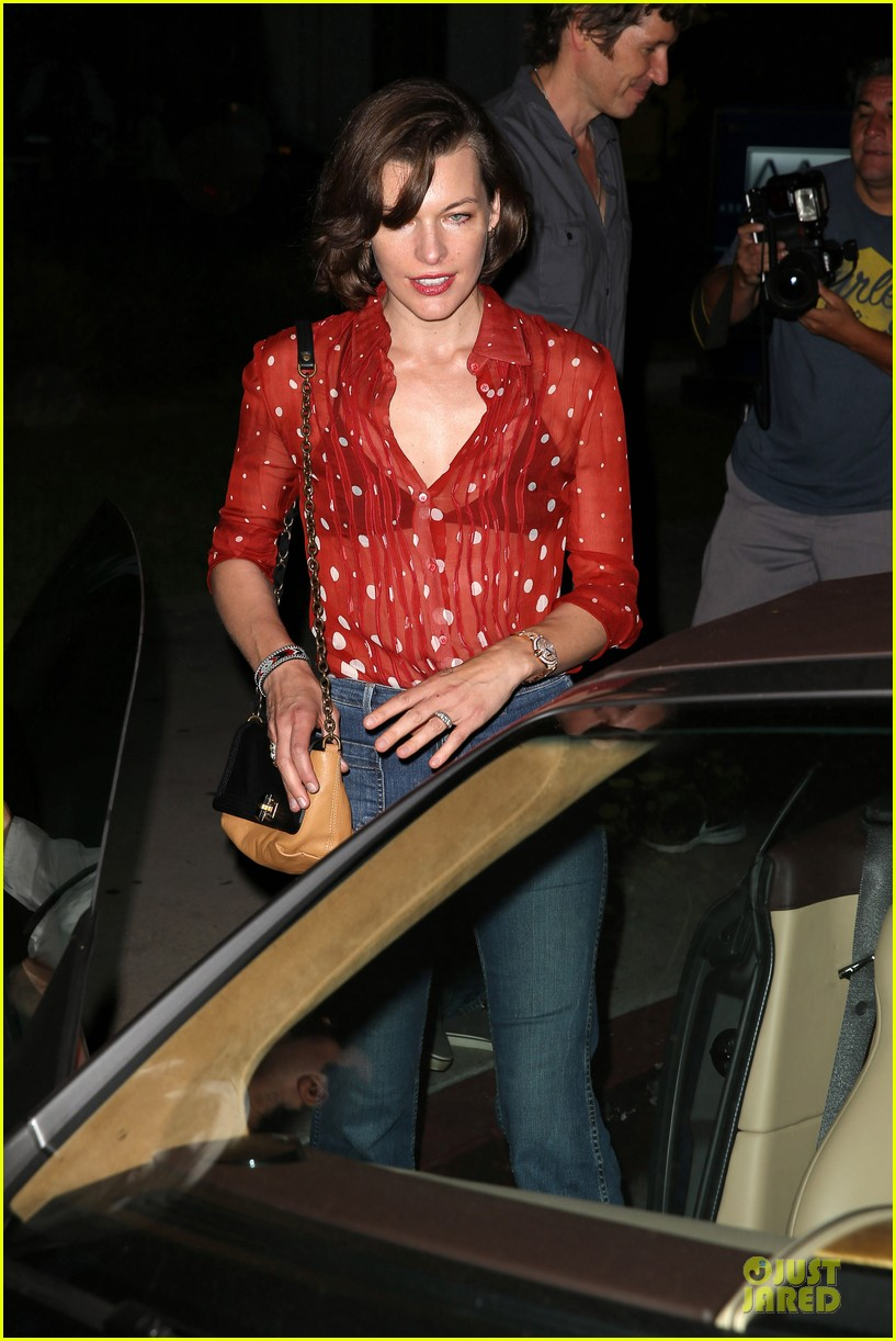 milla jovovich sheer red for paul ws anderson 132922523