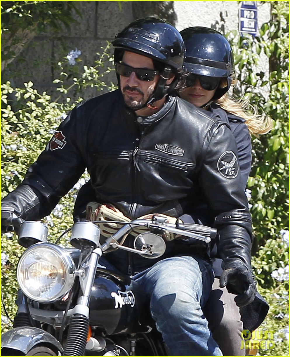keanu reeves motorcycle ride with mystery blonde 02