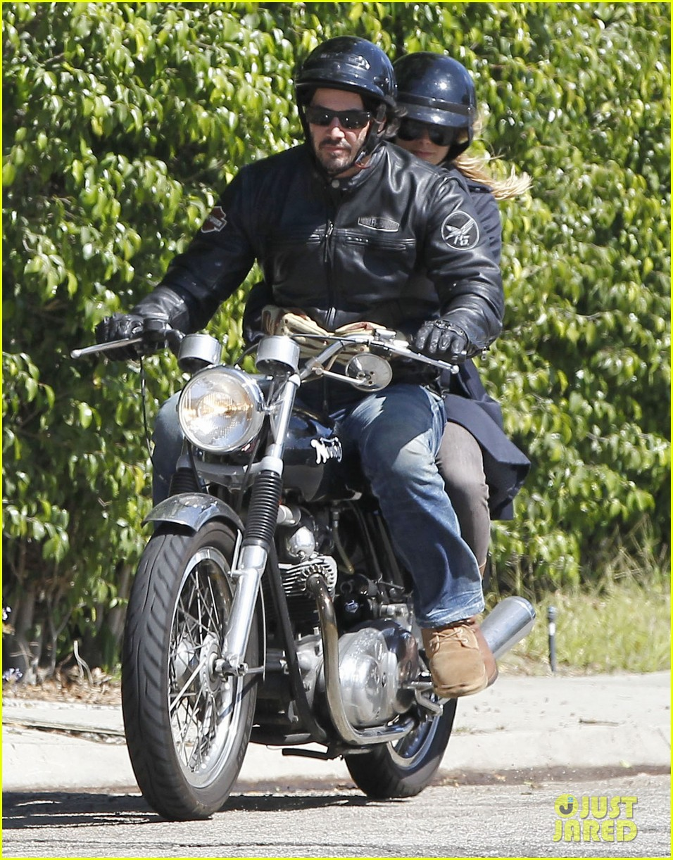 full sized photo of keanu reeves motorcycle ride with. Black Bedroom Furniture Sets. Home Design Ideas