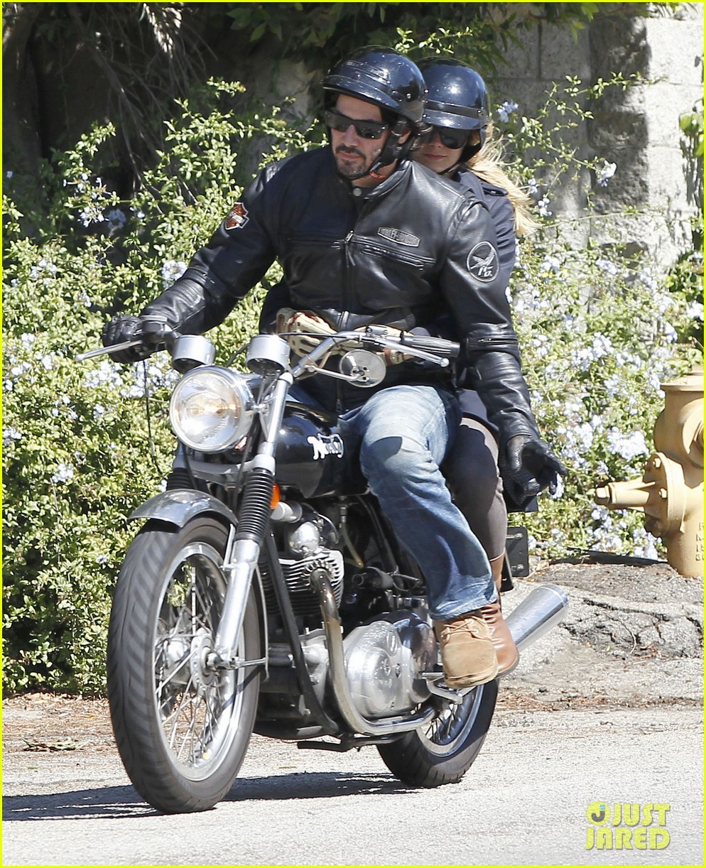 keanu reeves motorcycle ride with mystery blonde 082923313