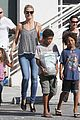 heidi klum martin kirsten beach bike ride with kids 03