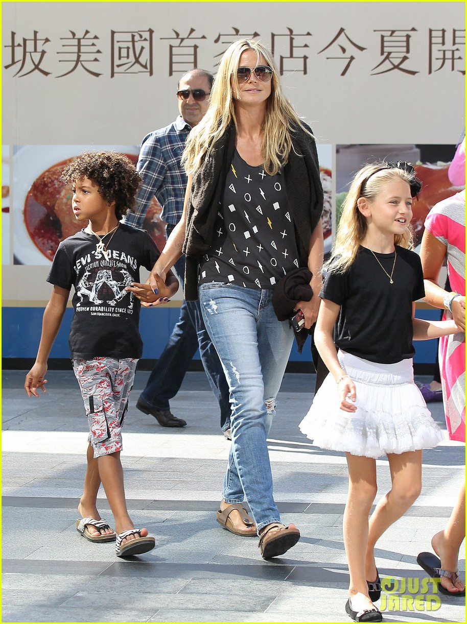heidi klum enjoys family movie afternoon 222923816