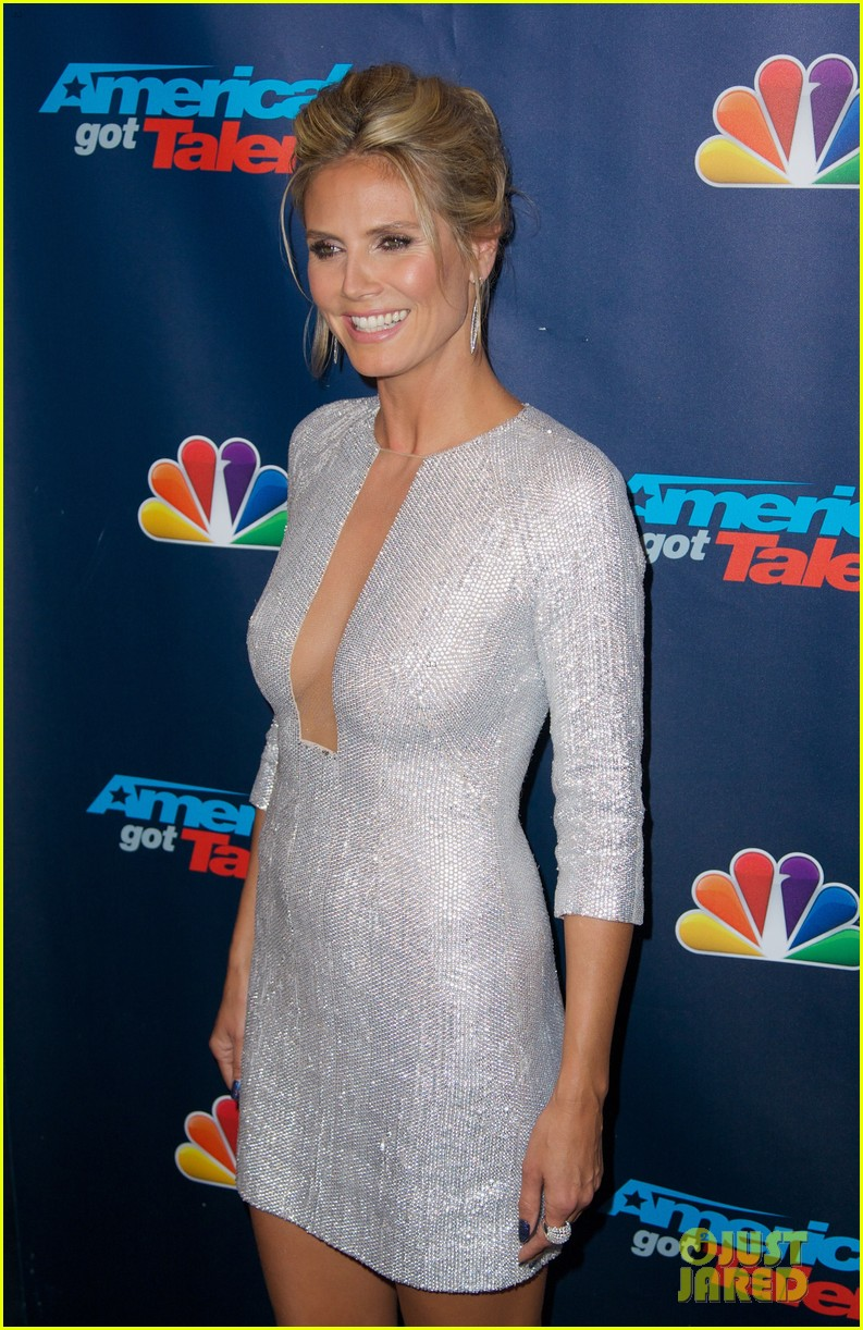 heidi klum project runway visit at america's got talent 12