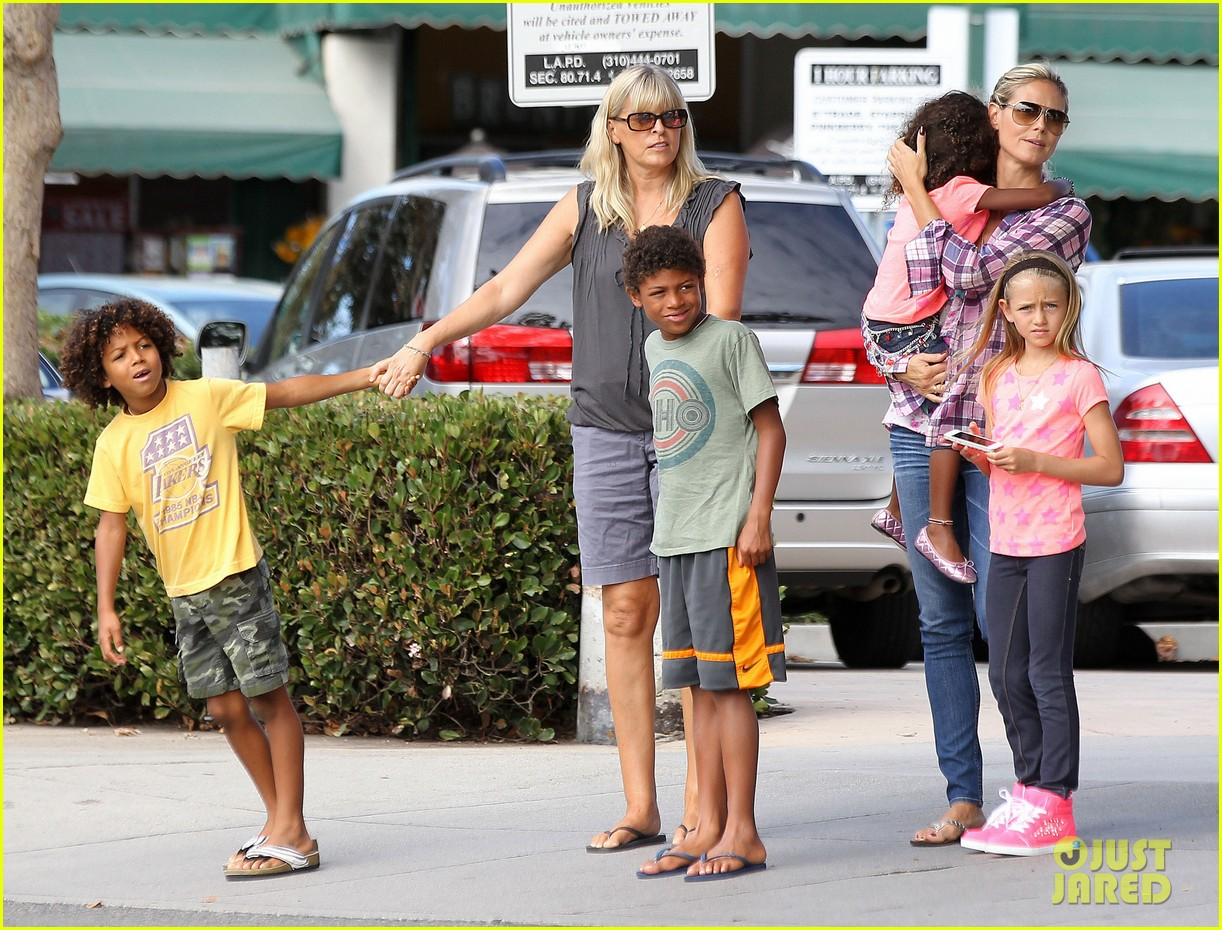 Heidi klum seal kids 2014 heidi klum shops with kids
