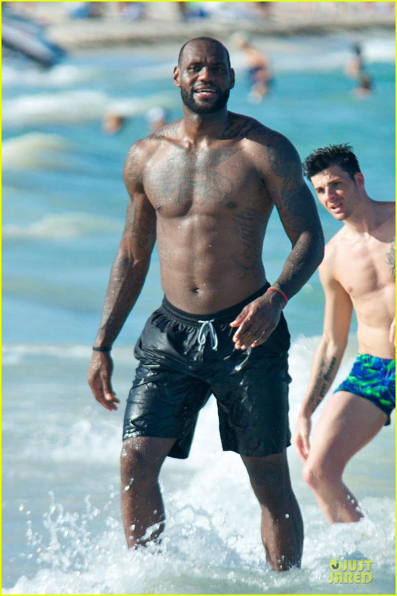 lebron james shirtless nike commercial shoot 062932115