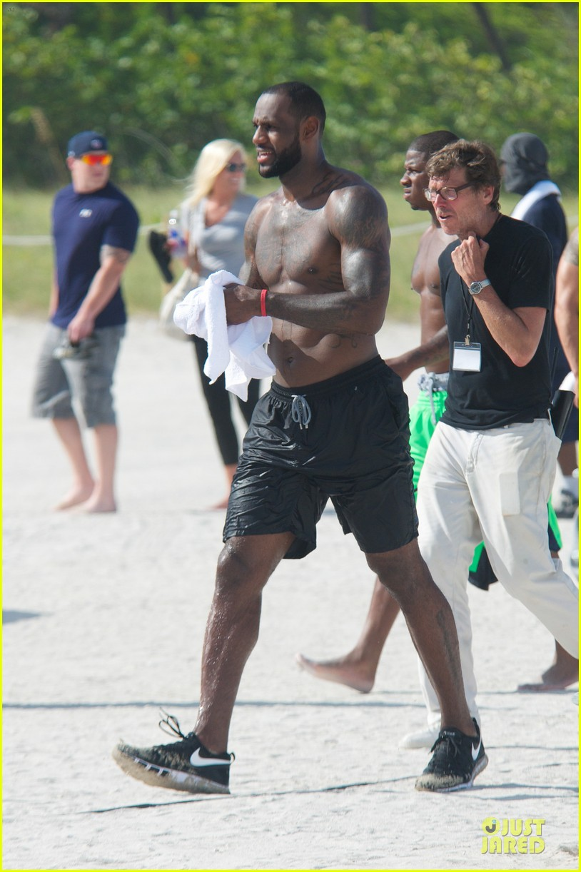 lebron james shirtless nike commercial shoot 132932122
