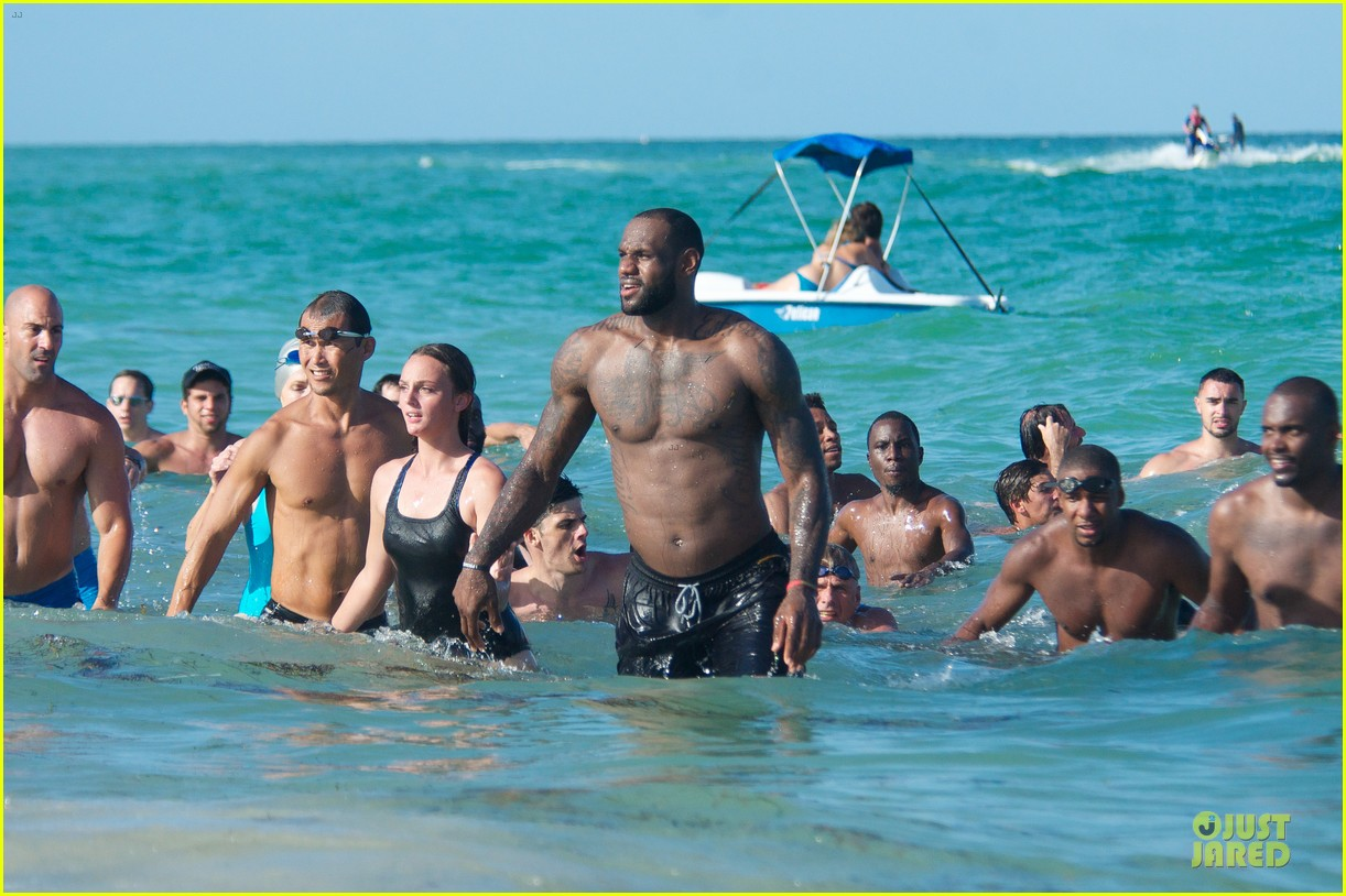 lebron james shirtless nike commercial shoot 15