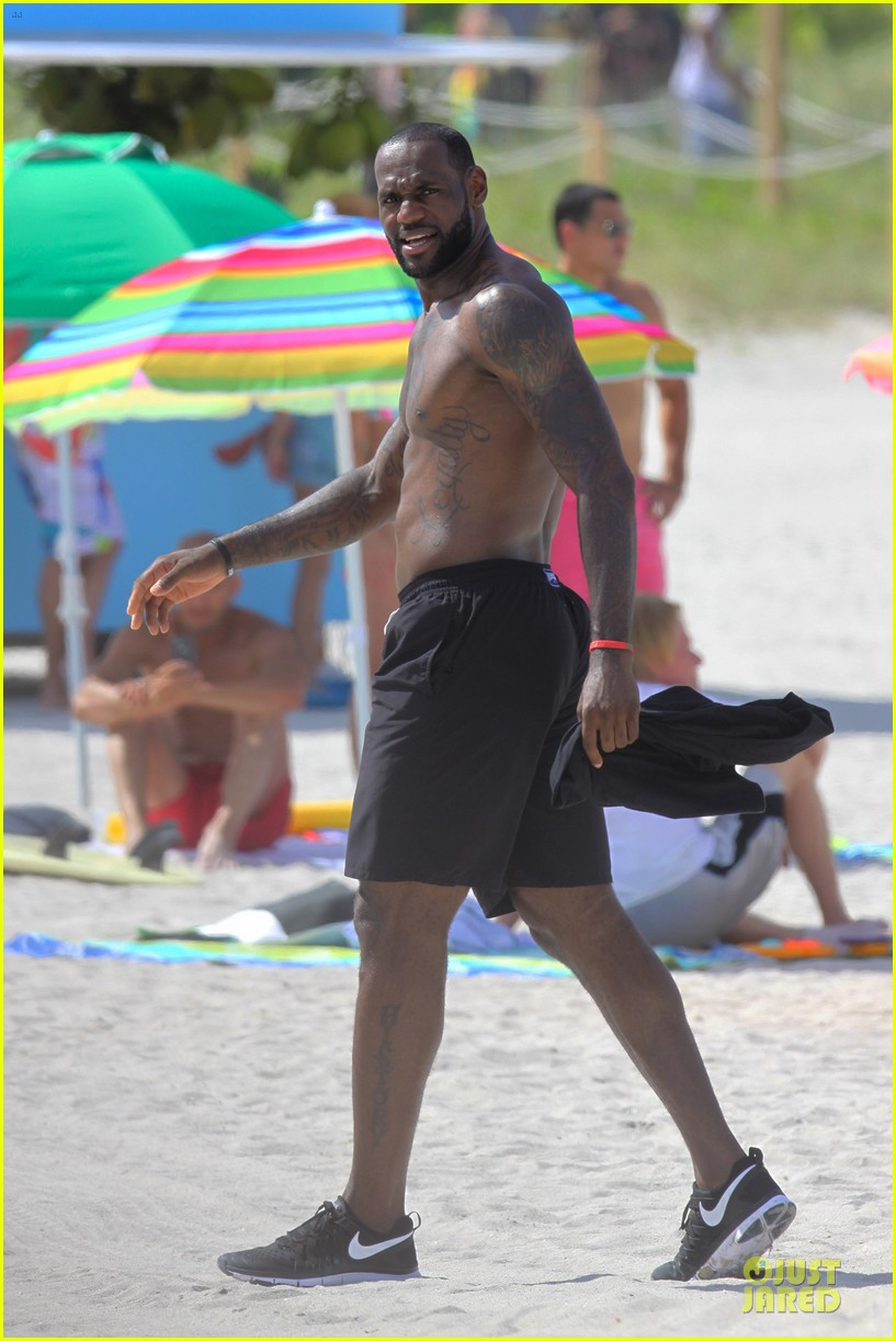 lebron james shirtless nike commercial shoot 282932137